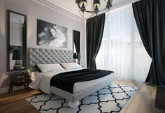 Townhouse in modern style modern bedroom by design studio by mariya rubleva is part of bedroom Aesthetic Night Stands - Here you will find photos of interior design ideas Get inspired! White Bedroom Design, White Bedroom Decor, Modern Bedroom Decor, White Decor, Bedroom Sets, Home Bedroom, Bedroom Photos, Master Bedroom, Bedroom Carpet