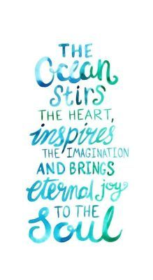 Summer Quotes : QUOTATION – Image : As the quote says – Description Ocean Love Quote – Watercolor Lettering Art Print Ocean Love Quotes, Quotes To Live By, Me Quotes, Motivational Quotes, Beach Inspirational Quotes, Crush Quotes, Beach Quotes And Sayings Inspiration, Quotes About The Ocean, Beach Ocean Quotes