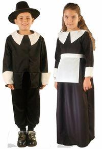 pilgrim boy and girl cutout #thanksgiving
