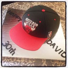 NBA Chicago Bulls Hat Cake Customdesigncatering.com