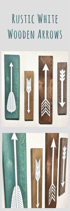 Rustic White Wooden Arrows Set of 4 Pieces Rustic Decor, Nursery Wall Art, Baby Boy Wall Art, Explorer, Farmhouse Decor, Toddler Wall Art, Family Room Decor, Living Room Decor, Baby Shower Gift Idea #affiliatelink