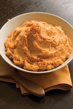 Chipotle Mashed Sweet Potatoes by Matt Bites