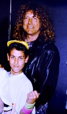 Robert Plant of Led Zeppelin with his son Logan #RobertPlant #LedZeppelin…
