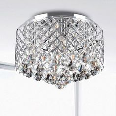 Nerisa Chrome Crystal Flush Mount Chandelier - Overstock™ Shopping - Big Discounts on Otis Designs Flush Mounts