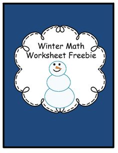 Winter Math Worksheets Freebie from The Honey Pot on TeachersNotebook.com (4 pages)