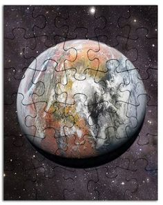 The one and only Modified Mars from Space Puzzle, showing the terraformed planet from a high orbit around the planet. Visible are the Northern Ocean and Chryse Gulf, Arabia and Xanthe Terra and Valles Marineris. The Martian, Mars, Planets, Puzzle, Shops, Ocean, Space, Gifts, Floor Space