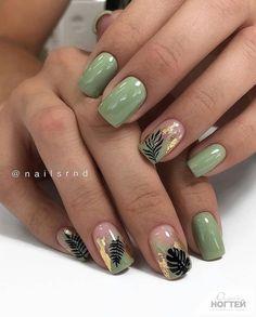 50 hottest natural and lovely short square nails for spring nails 2020 - Acrylic short square nails, natural short square nails , pretty short nails, Short square nails des - Green Nail Designs, Square Nail Designs, Short Nail Designs, Acrylic Nail Designs, Nail Art Designs, Acrylic Nails, Nails Design, Coffin Nails, Cute Summer Nails