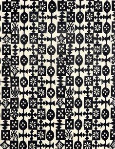 0 b&w Japanese Katazome pattern