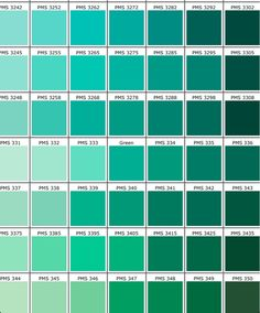 ID Card - Coimbatore - Ph: 97905 Pantone Color Chart Green Color Names, Seafoam Green Color, Green Colors, Emerald Green, Green Color Chart, Emerald Color, Turquoise Color, Yellow, Blue Green