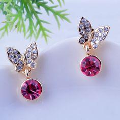 Zinc Alloy #Drop #Earrings, Butterfly design http://www.beads.us/product/Zinc-Alloy-Drop-Earring_p218740.html?Utm_rid=219754