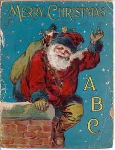 1910 Children's Christmas Book MERRY CHRISTMAS ABC McLoughlin Bros Antique Vintage op Etsy, 76,89 € Z