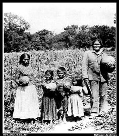 Geronimo and family at Fort Sill, Oklahoma - Chiricahua Apache - no date