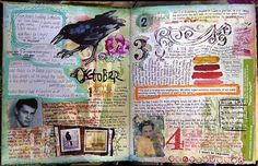 SAMPLE ART JOURNAL PAGE - Interesting Art Journal Page - no information about this page on link. Just enjoy the sample art journal page - by Judy Wise