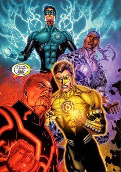 DC Comics Sirena Roman Green Lantern Corps - 7:52 PM Hal Jordan as a Yellow Lantern Guy Gardner as a Red Lantern John Stuart as an Indi...