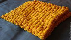 Купить Плед мягкий, яркий желтый детский, покрывало в кроватку, в коляску - желтый, детский плед