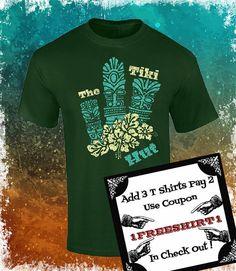 Playera con Tiki Camiseta con estilo Retro por ArteImMrAmA en Etsy