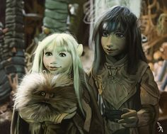Dark Crystal jen and kira  by ~KuristO  Fan Art / Cartoons & Comics / Digital / Movies & TV