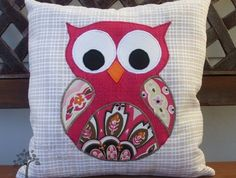 'Paisley Owl' Cushion Cover