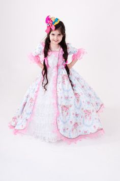 Marie Antoinette Dress - Pink and Blue Princess Costume - Child's Halloween Costume on Etsy, $225.00