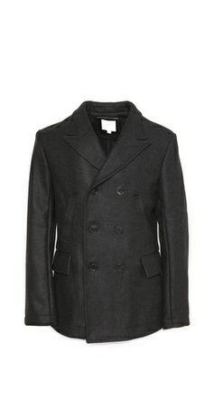 Billy Reid Wool Peak Lapel Pea Coat Billy Reid, Pea Coat, Your Style, Blazer, Wool, Jackets, Fashion Design, Shopping, Clothes