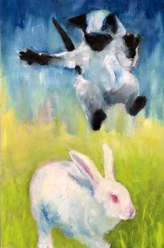 Planet Earth, Rabbit, Kitty, Cats, Photography, Painting, Bunny, Little Kitty, Rabbits