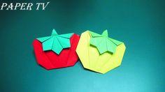 [Paper TV] Origami Tomato 토마토 종이접기 折り紙 トマト como hacer tomates de papel t...