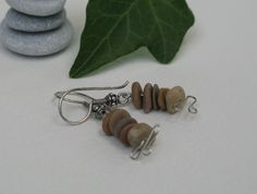 pebble cairn and sterling silver earrings Stone Jewelry, Sterling Silver Earrings, Etsy Seller, Handmade Jewelry, Pendant Necklace, Personalized Items, Handmade Jewellery, Jewellery Making, Diy Jewelry