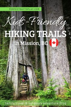 Easy Hiking Trails in Mission BC for all fitness levels: ancient forest with giant trees, epic views, lakes, and waterfalls hikes. Hiking in Mission BC. Hiking With Kids, Travel With Kids, Family Travel, Fraser Valley, Waterfall Hikes, Best Hikes, Canada Travel, Hiking Trails, Cool Places To Visit