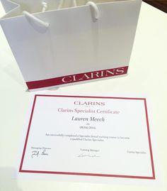 Training Done  #clarins #clarinstraining #london #clarinsspecialist #beautyadvisor #premium #brand by laurengeorgina_