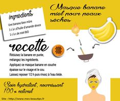 Masque banane hydratant pour peaux sèches Mack Up, Easy Workouts, Serum, Homemade, Beauty, Diy Masque, Recherche Google, Glow, Tips