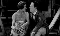 """As a model, Heidi has the Girl-Next-Door, All-American look of a silent film star, such as Kathryn McGuire in Buster Keaton's """"The Navigator."""""""