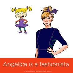 Cartoon characters all grown up Angelica of Rugrats