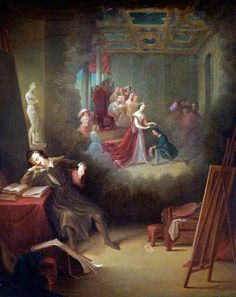 Eastlake, Charles (1793-1865), A Painter Dreaming of Queen Victoria's Patronage of the Arts (?), 1841, Oil