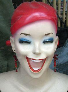 Red Headed Retro Mannequin