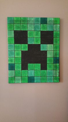 Hey, I found this really awesome Etsy listing at https://www.etsy.com/listing/217220058/minecraft-creeper-canvas