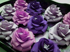 Handmade Paper Flowers  Roses  Medium  by morepaperthanshoes, $30.00