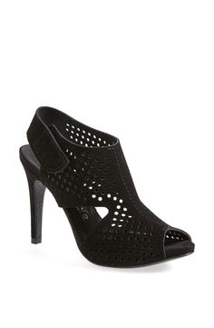 Party ready perforated open toe booties