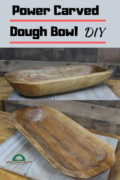 This tutorial will show you step-by-step how to power carve a dough bowl. I'll be using an angle grinder and power carving attachments. This will make a great decorative piece or an elegant way to store your fruit. You could even mix and knead dough in it to make biscuits.