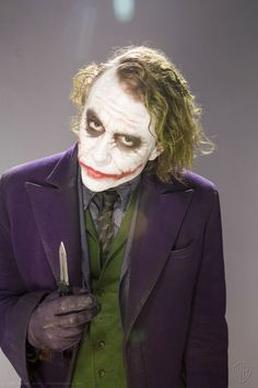 """The Joker""\The Dark Knight,\ Heath Ledger, Joker Make-up, Joker Y Harley Quinn, Der Joker, Joker 2008, Joker Dark Knight, The Dark Knight Trilogy, Heath Ledger Joker, Joker Photos, White Face Paint"
