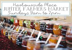 JUPITER FARMER'S MARKET SUNDAYS At  HARBOURSIDE PLACE - A spectrum of colors, beautiful views and friendly vendors will welcome you every Sunday to the Jupiter Farmer's Market at Harbourside Place in Jupiter, Florida. Live music will flow through the air played by local bands. #thingstodoinjupiterflorida #farmersmarkets #harbourside http://www.waterfront-properties.com/blog/jupiters-farmers-market-sundays-at-harbourside-place1.html