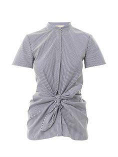 Pinstripe Knot Shirt - Vanessa Bruno  #pinstripe #vanessabrune #top