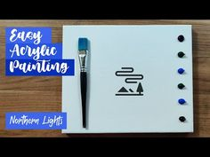 Aurora Painting | Northern Light | Simple Painting For Beginners | How to paint Northern Lights - YouTube