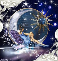 Fairy In The Blue Moon Picture #75450874 | Blingee.com