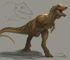 ArtStation - dino creature , Jonathan Kuo