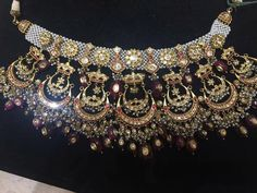 bridal jewelry for the radiant bride Royal Jewelry, India Jewelry, Beaded Jewelry, Gold Jewelry, Jewlery, Bridal Jewellery Inspiration, Bridal Jewelry Sets, Wedding Jewelry, Antique Jewellery Designs