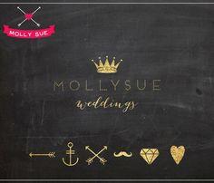 Custom Business Premade Logo Design Crown Glitter by mollysuelogos Business Branding, Logo Branding, Branding Ideas, Brand Identity, Branding Design, Web Design, Graphic Design, Queen Albums, Watermark Design
