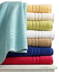 """Martha Stewart Collection Quick Dry 13"""" Square Washcloth."""