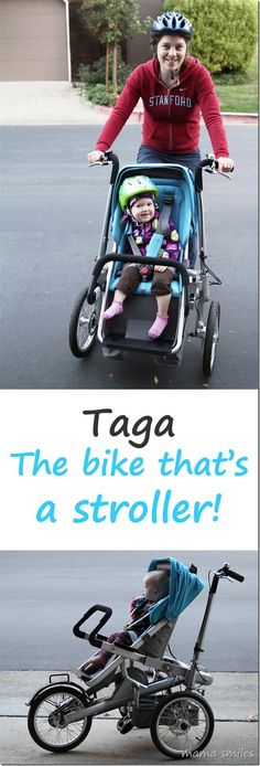 taga - the bike that turns into a stroller once you reach your destination! From @Mama Smiles - Joyful Parenting
