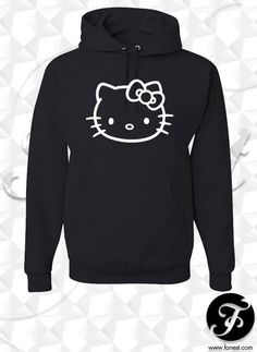 Hello Kitty Hoodie by NRvinyl on Etsy cda43d64c8544