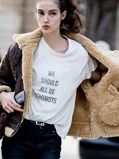 The fashion set is all about Dior's We Should All Be Feminist T-shirts. We've rounded up some affordable feminist apparel and political tees to buy instead.